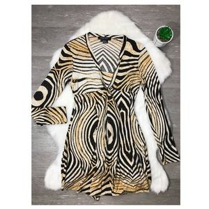 Etcetera 100% Silk Long Sleeve Mini Dress